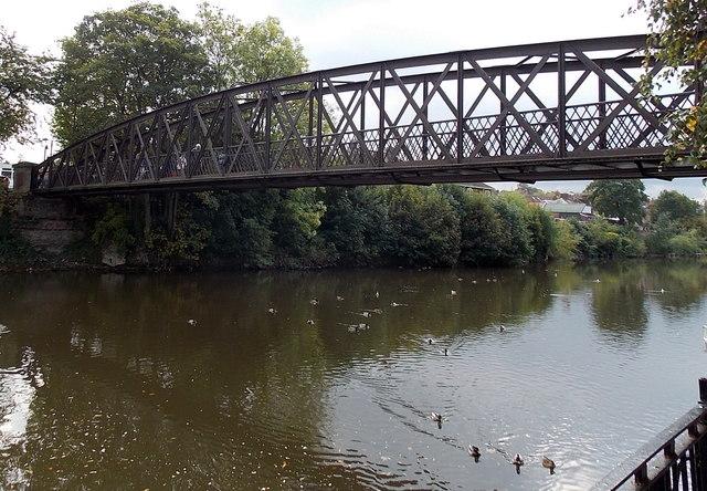 East side of Greyfriars Bridge, Shrewsbury