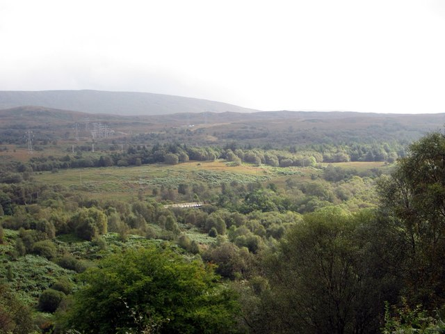 The scene from Whistlefield view point north of Garelochead in Argyll