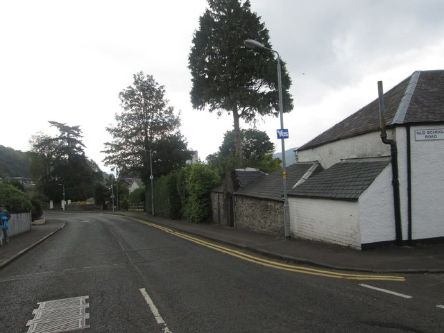 The B872 heading south through Garelochhead in Argyll