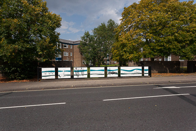 Decorated parapet over River Itchen