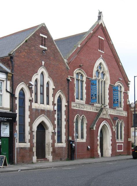 Hartlepool - Baptist Church on Tower Street