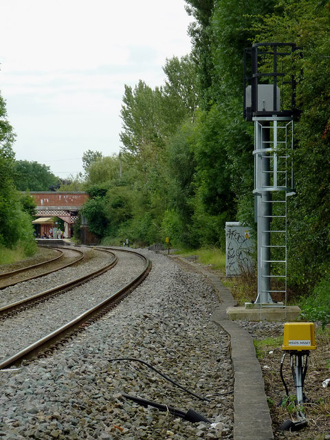 Railway north of Wilmcote, Warwickshire