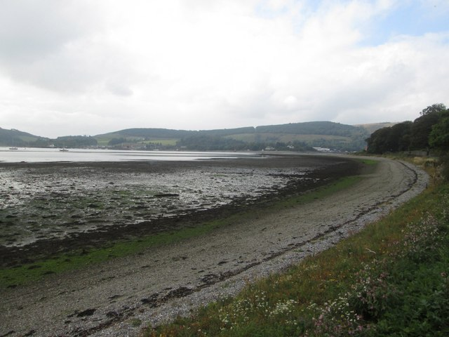The beach at Rhu in Argyll and Bute