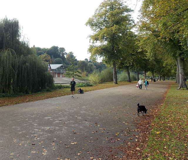 Riverside path, Shrewsbury