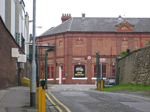 Hartlepool - Cameron's Lion Brewery - lorry entrance