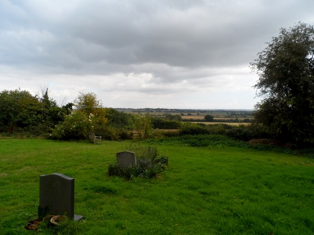 Looking east from churchyard of St Stephen's Great Wigborough