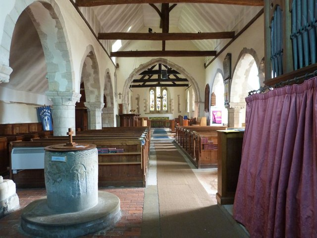 The Nave and Chancel, The church of St. Mary the Virgin, Yapton