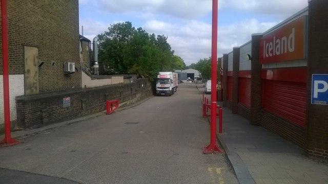 Entrance to former goods yard, Thornton Heath station