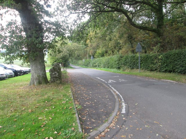 Single track road heading out of Drymen in Stirlingshire
