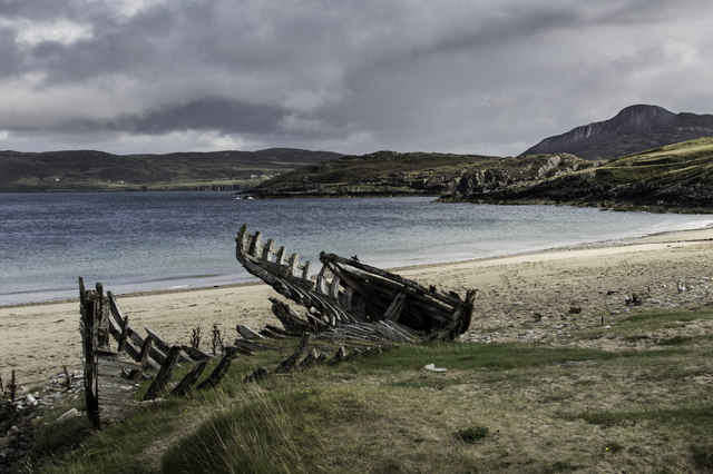 The wreck on Talmine Beach in 2014