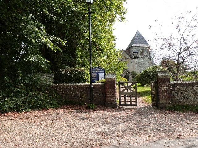 Entrance gate to the church of St. Mary the Virgin, Yapton, West Sussex