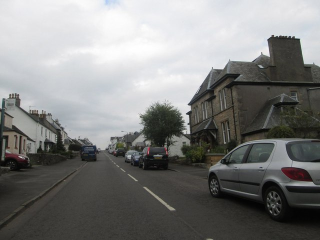 Heading along the main thoroughfare in Gartmore