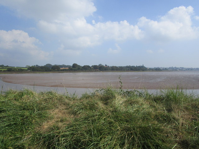 View across the River Clyst at low tide
