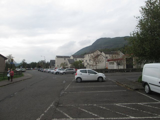 The car park at Aberfoyle Woollen centre