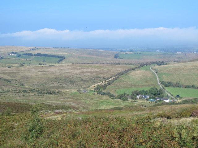 Farmland and moorland around Howgill