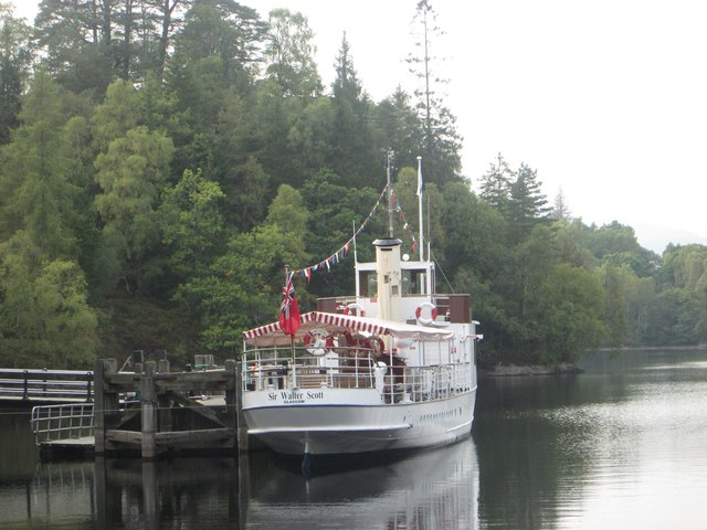 The SS Sir Walter Scott berthed at Loch Katrine