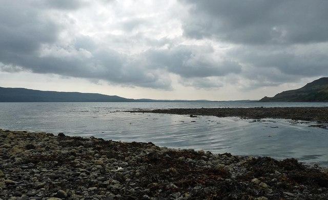 Mouth of the Abhainn Beul-ath an Tairbh, Ardmeanach, Isle of Mull