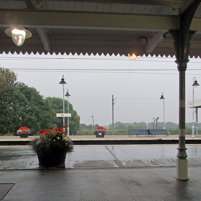 A wet morning at Ely Station