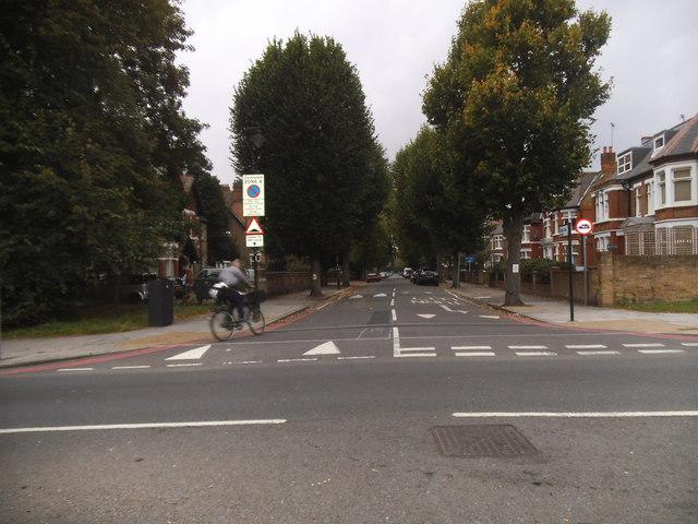 Hamilton Road at the junction of the North Circular