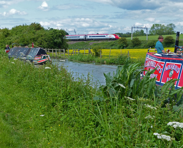Narrowboats on the Oxford Canal
