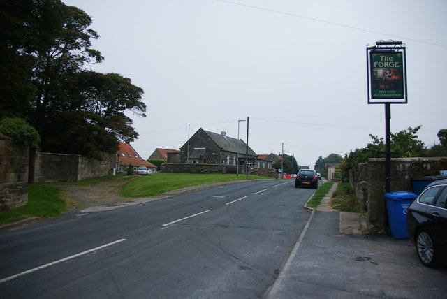 The main street through Aislaby