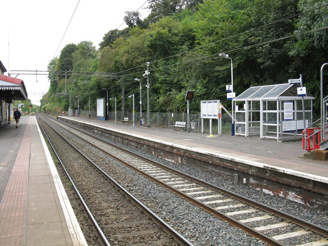 Bearsden station - the Milngavie platform