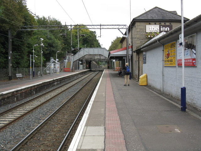 Bearsden station, looking north