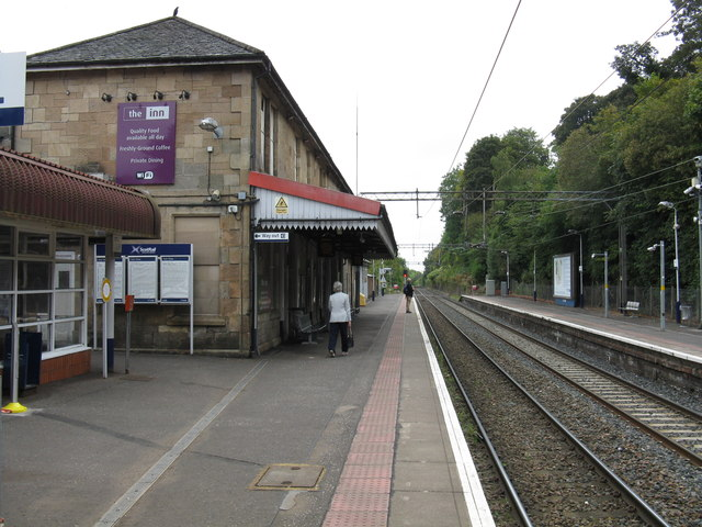 Bearsden station, looking south