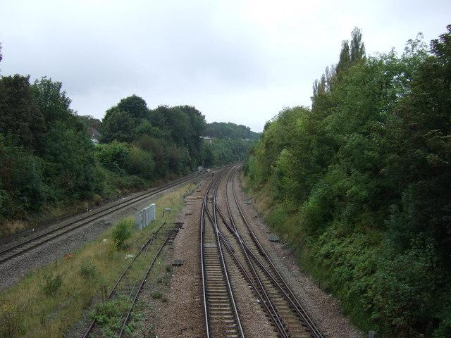 Railway heading west