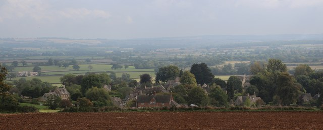 View to Icomb and Cotswolds