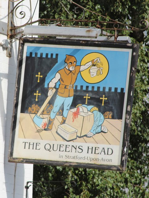 The Queens Head sign