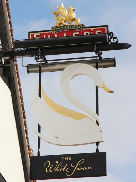 The White Swan sign