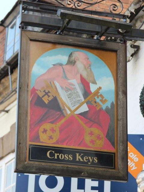 The Cross Keys sign