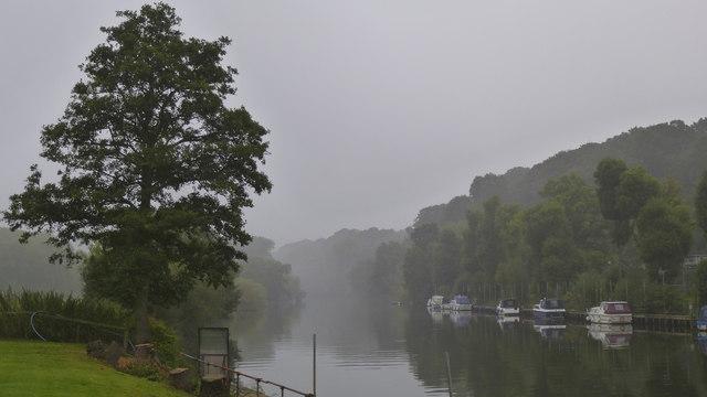 Looking upstream from the Lenchford Inn