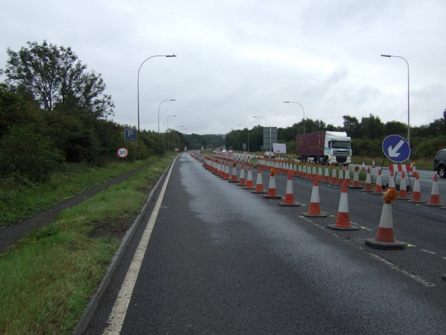 Roadworks on the A18