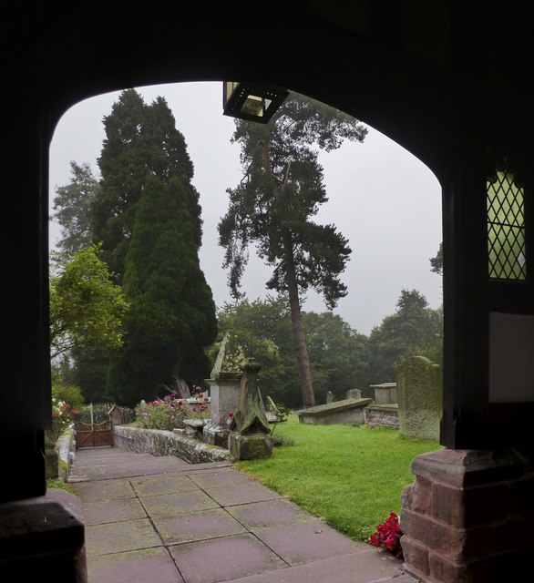 The view from the porch at Astley Church