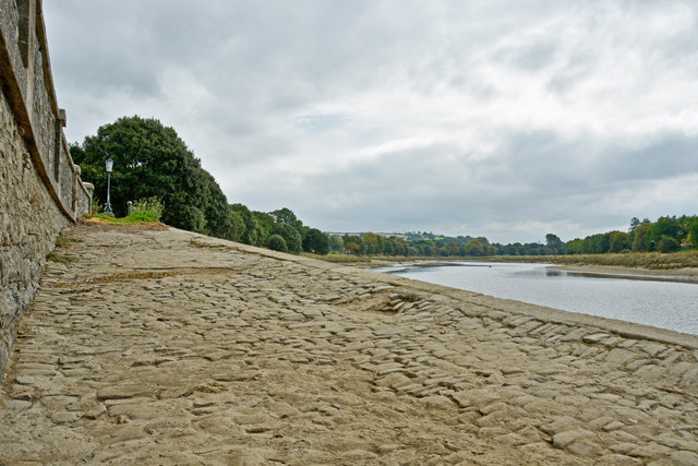 A slipway into the River Taw by Rock Park