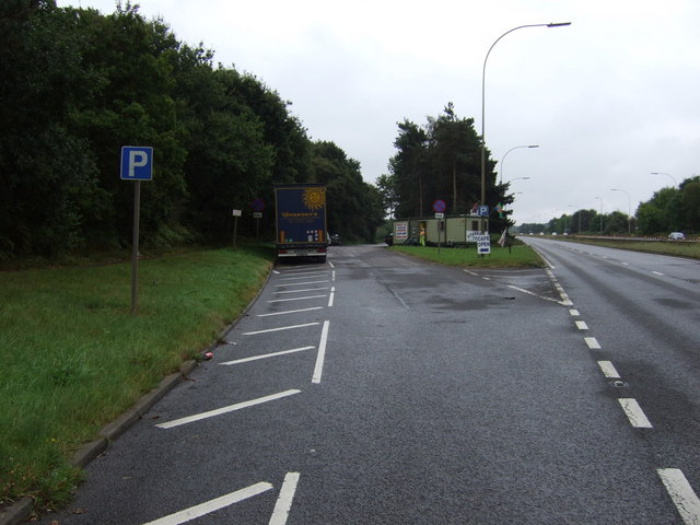 Lay-by off the A18