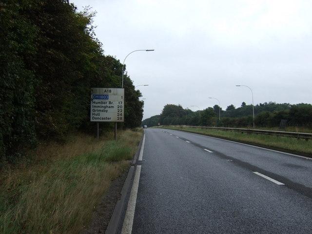 A18 towards Brigg