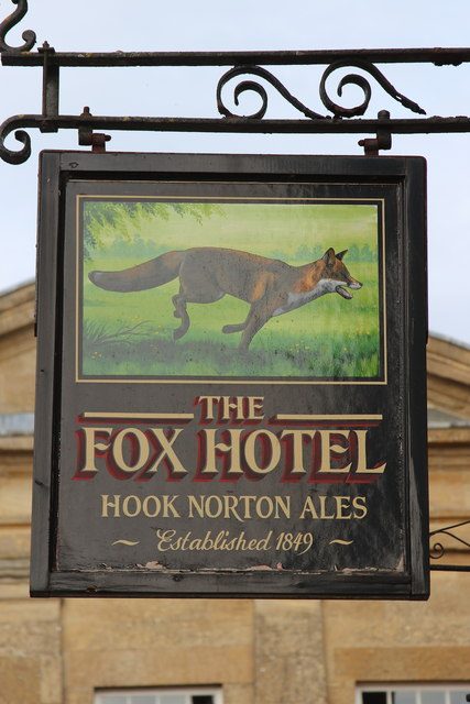 The Fox Hotel sign