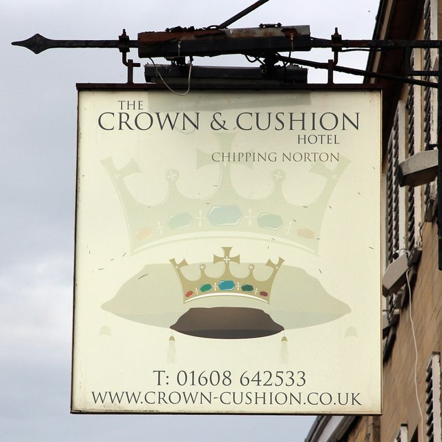 The Crown & Cushion sign