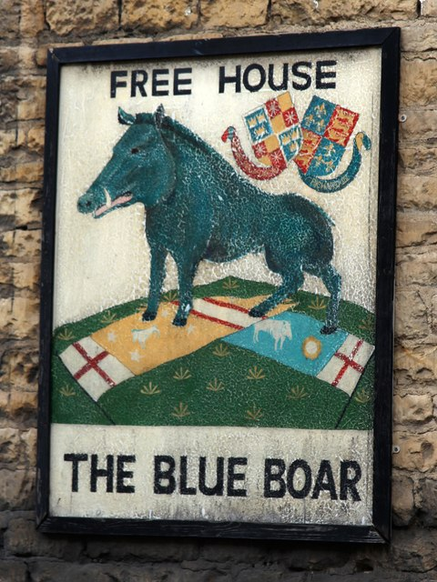 The Blue Boar sign