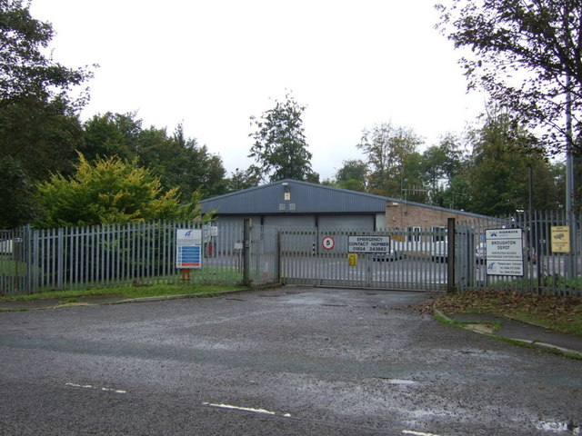 Entrance to Broughton Depot