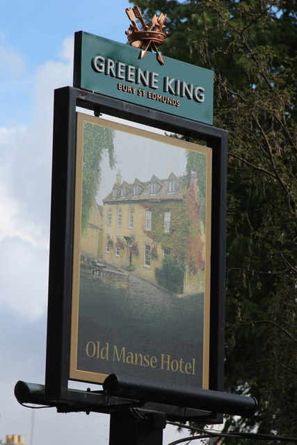 Old Manse Hotel sign