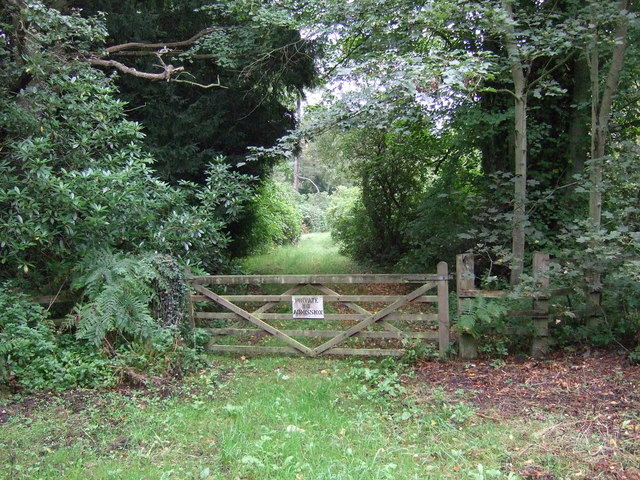 Private track into woodland