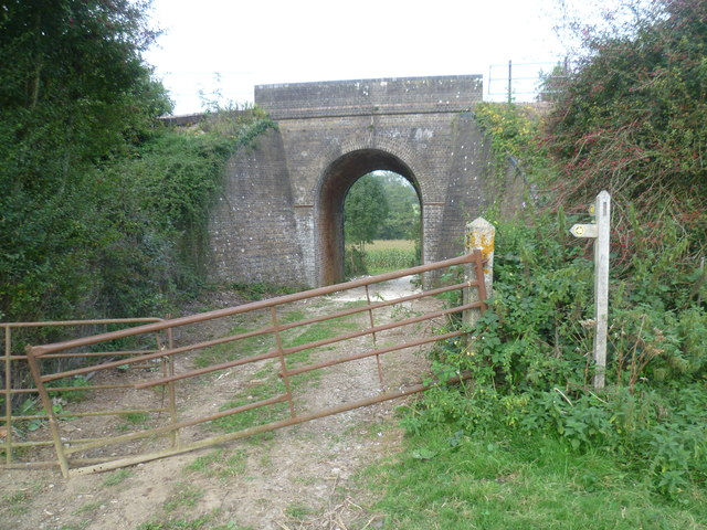 Sussex Border Path passes under the Uckfield Line