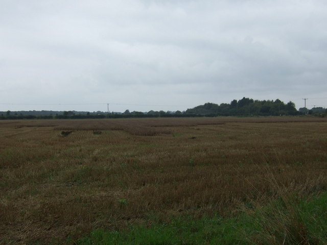Stubble field off Holme Lane