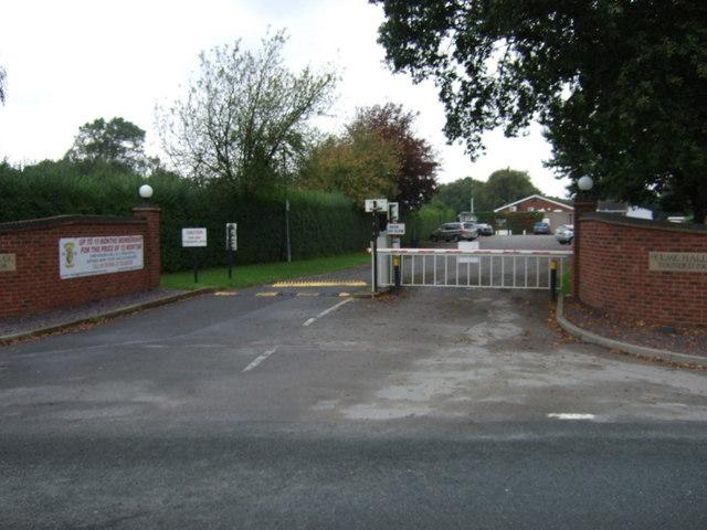 Entrance to Holme Hall Golf Club