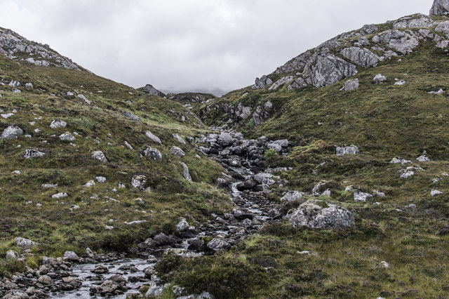 Low water on the Ault na Ghairbh