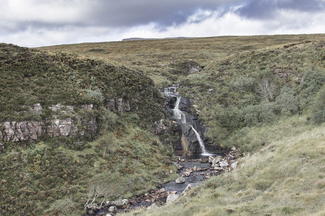 Falls on the Achriesgill Water
